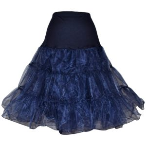 Navy Organza petticoat