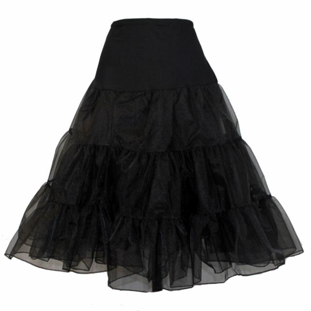Full Organza Petticoat - Black