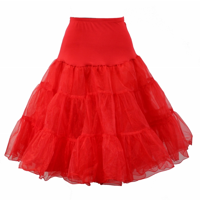 Full Organza Petticoat - Red