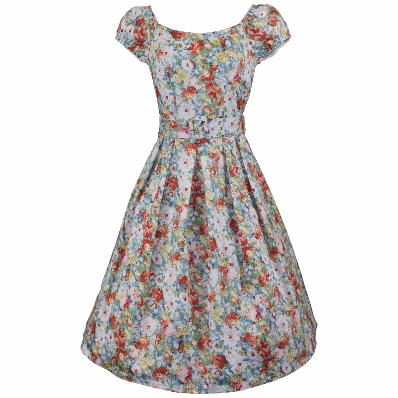 Bonjour Dress - Faded Chintz