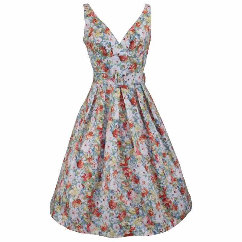 Paris Dress - Faded Chintz
