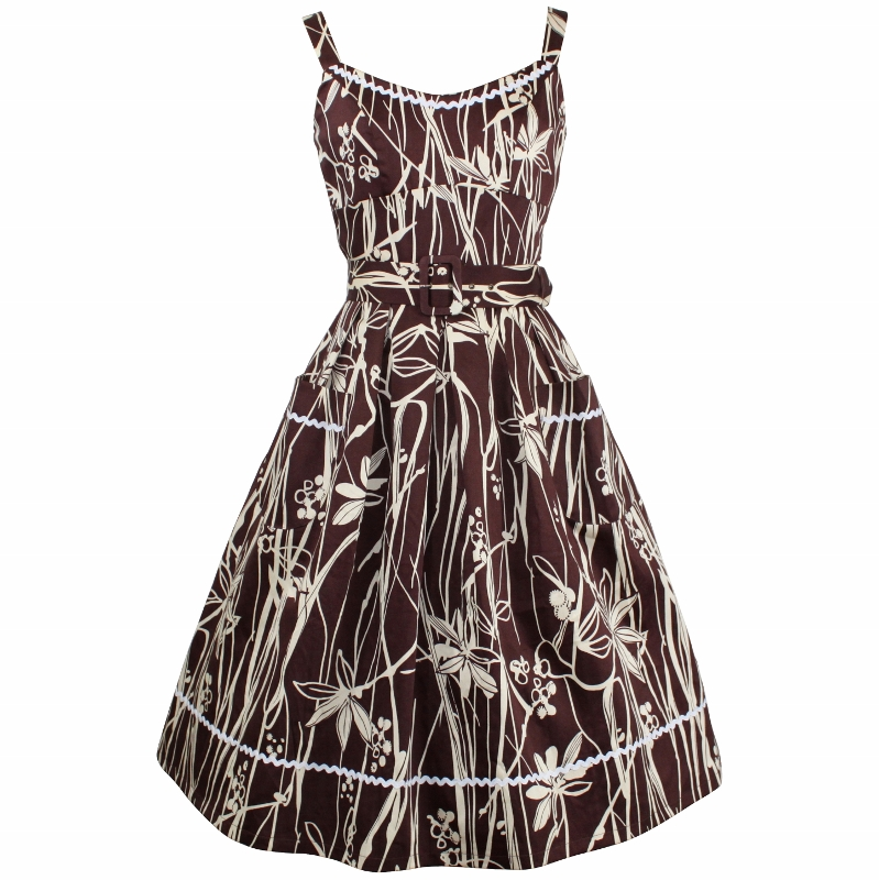 Betty Sundress - Brown Stems