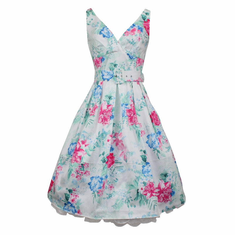 Paris Dress - Watercolour Floral