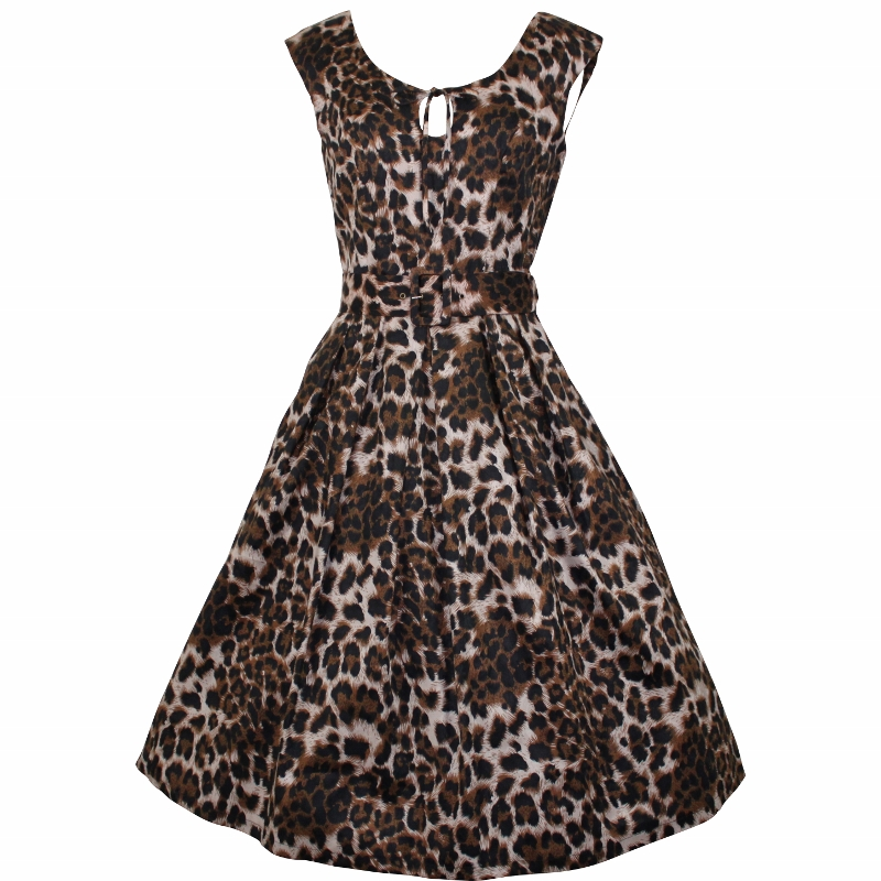 Peekaboo Dress - Leopardskin