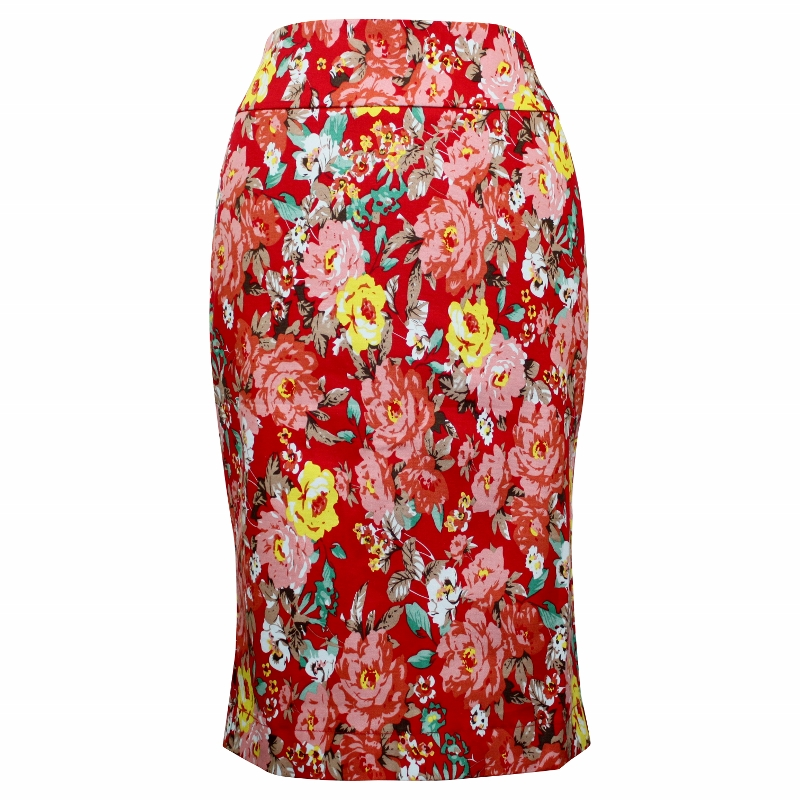 Tiffany Pencil Skirt - Red