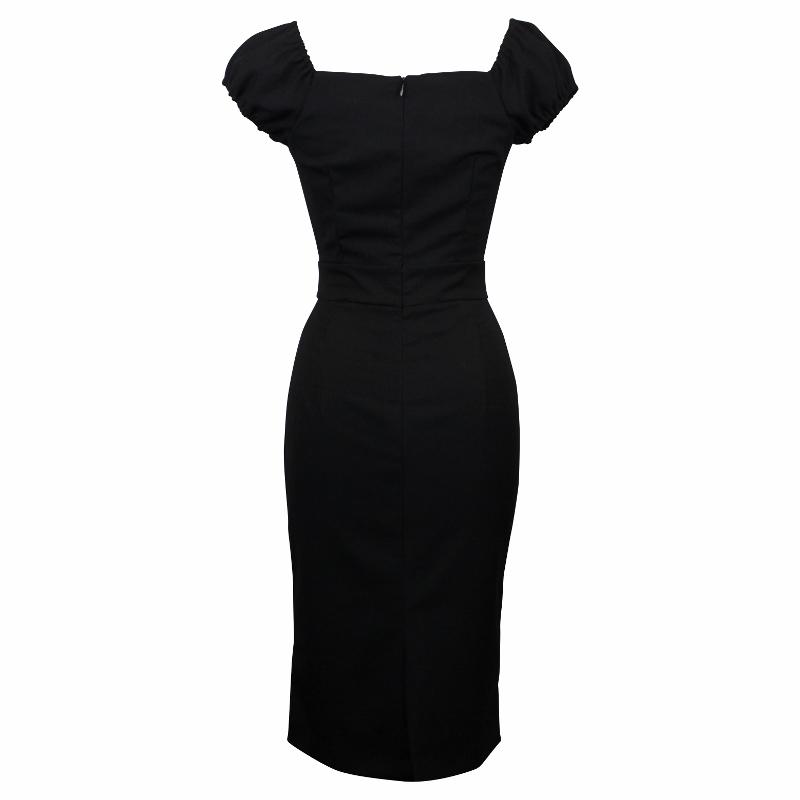 Carmen Wiggle Dress - Midnight Black