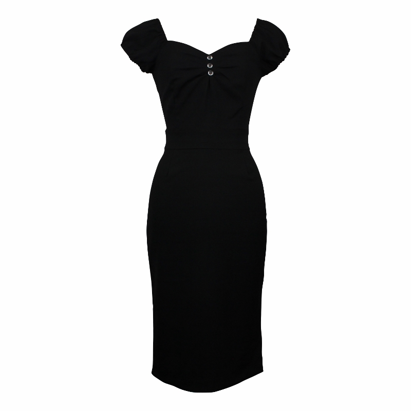 Carmen Wiggle Dress - Midnight Black