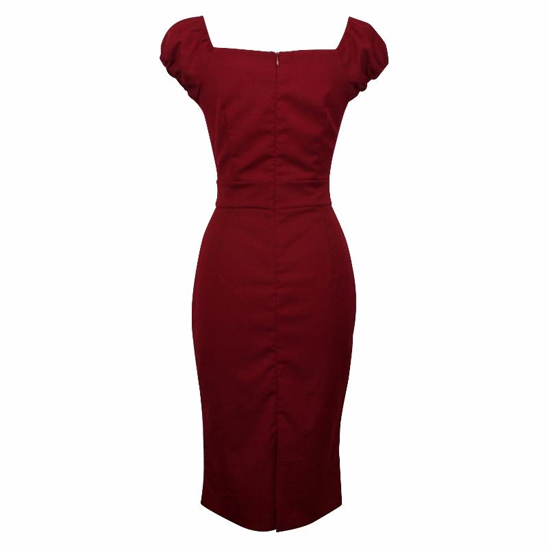 Carmen Wiggle Dress - Garnet Red