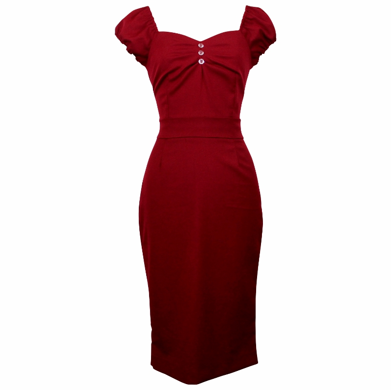 Carmen Wiggle Dress - Garnet Red