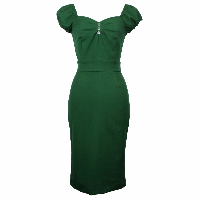 Carmen Wiggle Dress - Racing Green