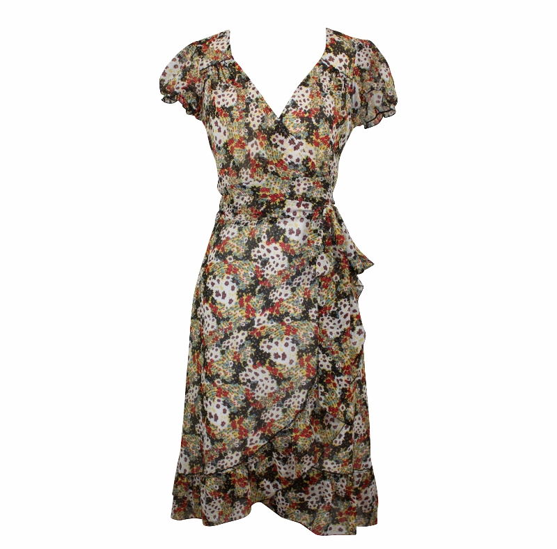 Dita Wrap Dress - Ditsy Floral