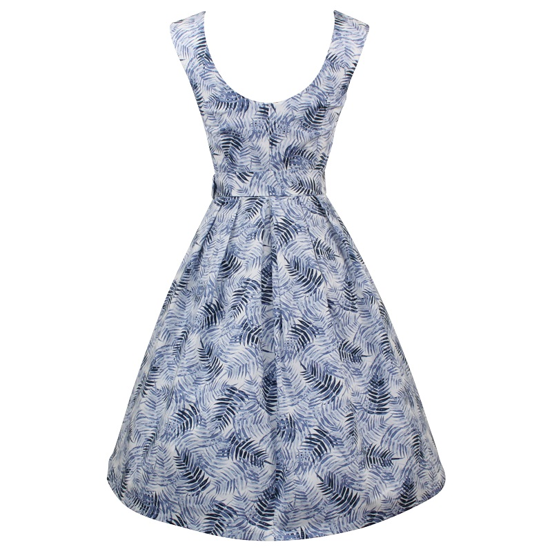 Julie Dress - Blue Ferns