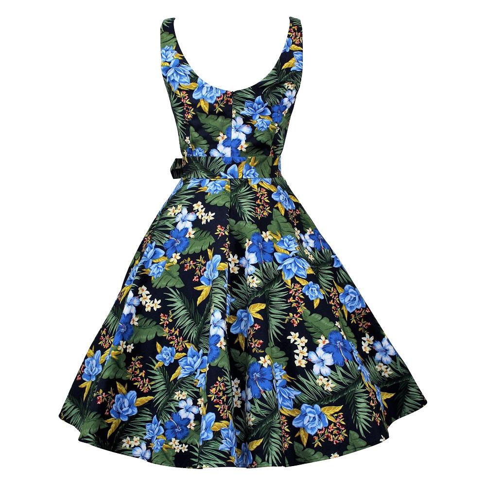 Ballerina Swing Dress - Tropical Navy