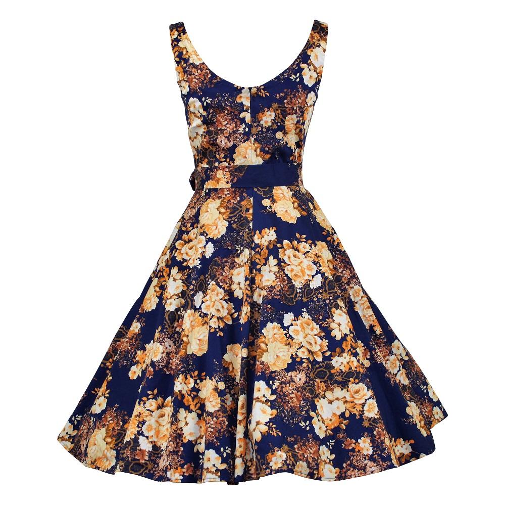 Gina Swing Dress - Golden Roses