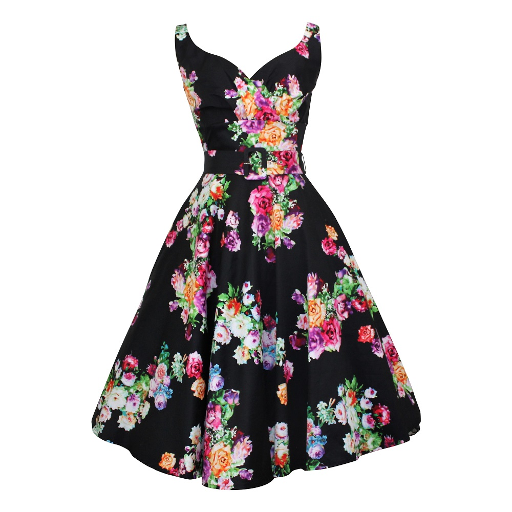 DD+ Paris Swing Dress - Posy on Black