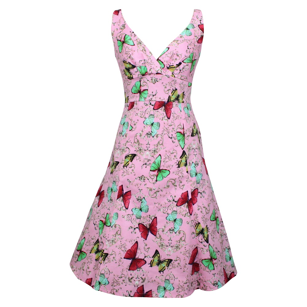 Kerryn Dress - Pink Butterflies