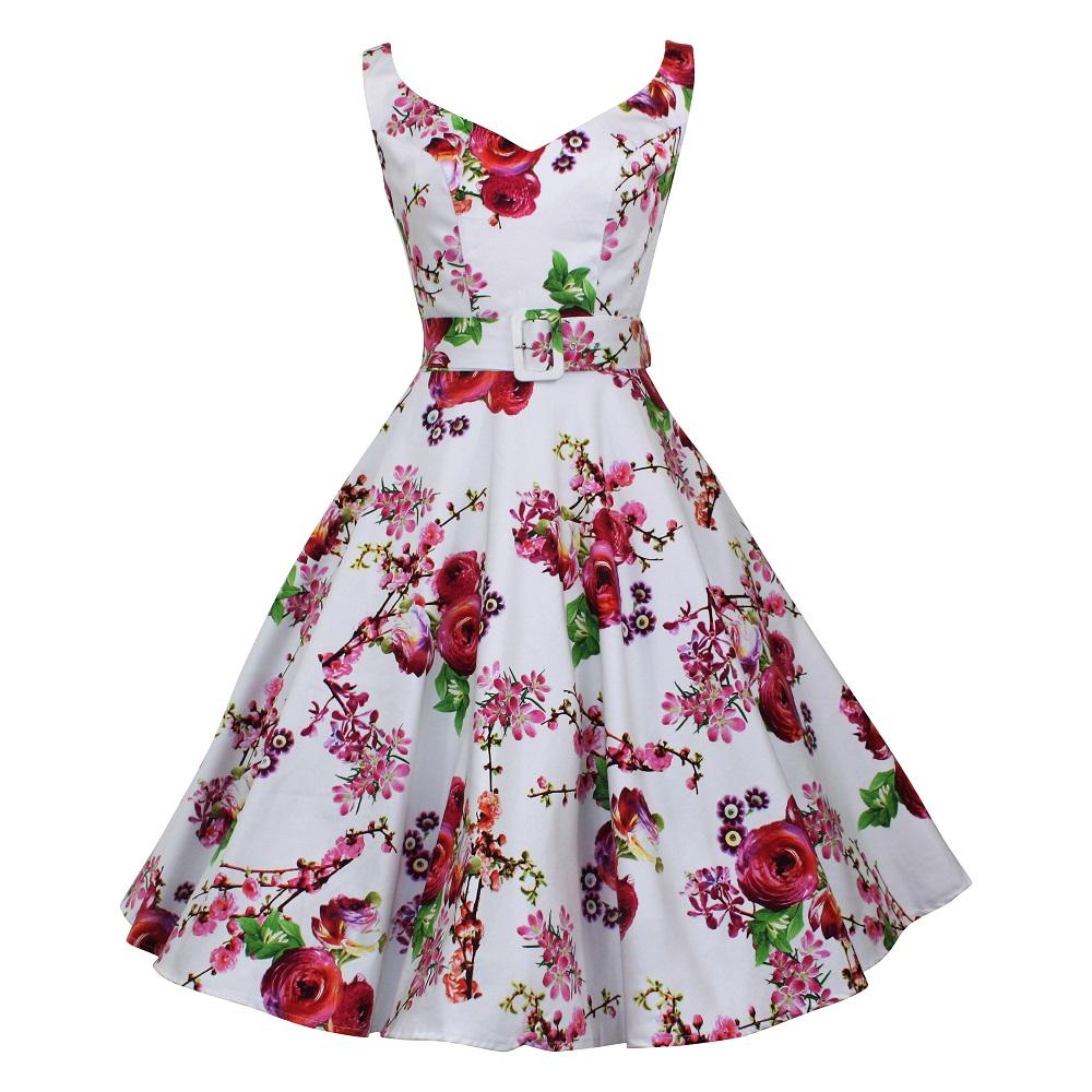 Misty Swing Dress - Blossom & Rose on White