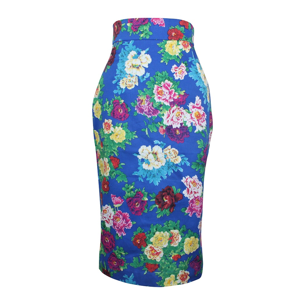Rosa Pencil Skirt - Royal Blue