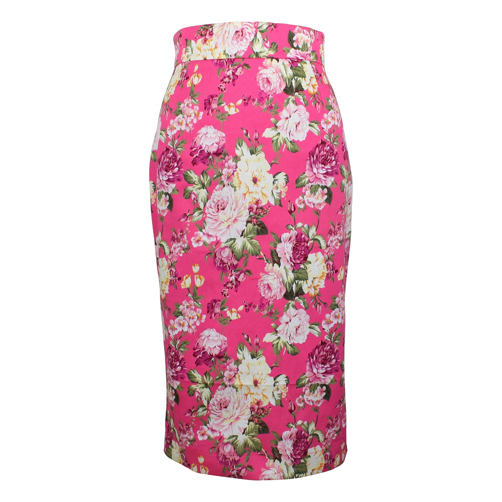 Rosa Pencil Skirt - Hot Pink