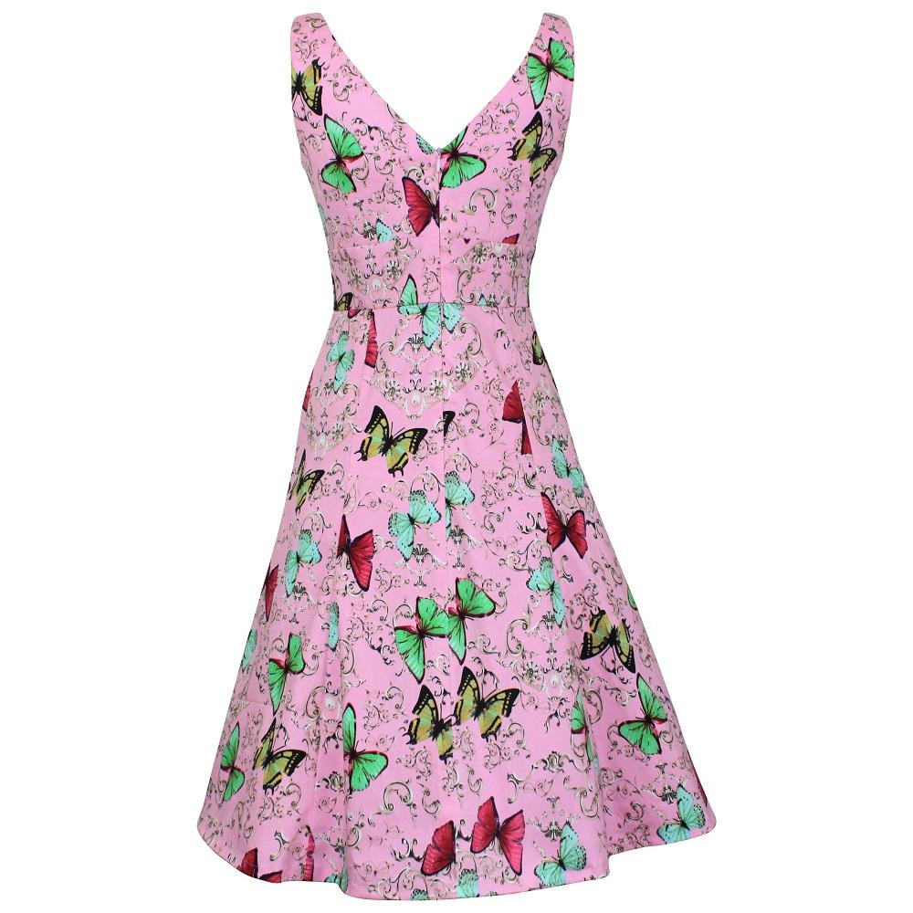 Kerryn Dress - Pink Butterflies