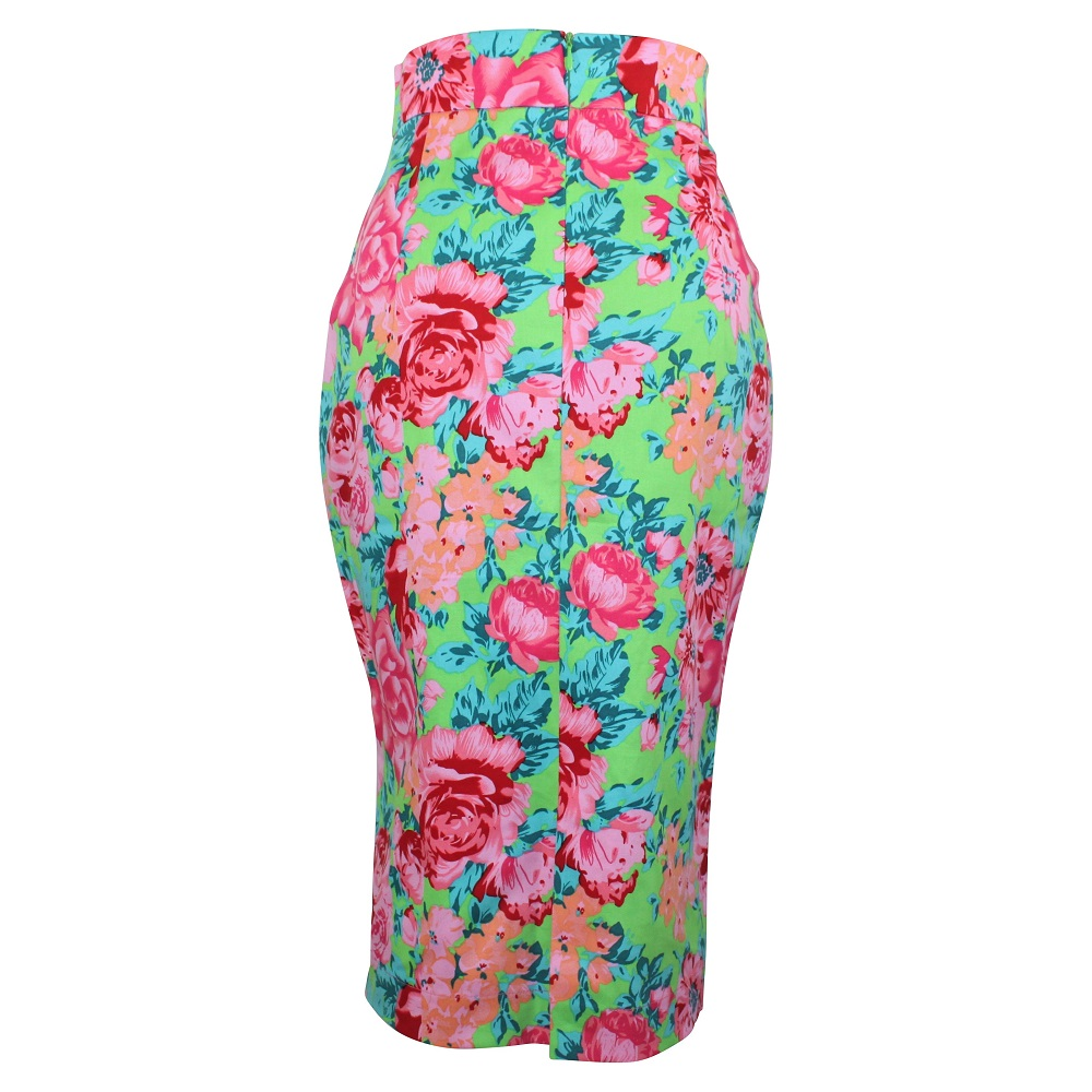 Rosa Pencil Skirt - Lime Green