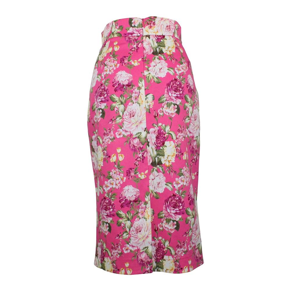Rosa Pencil Skirt - Hot Pink