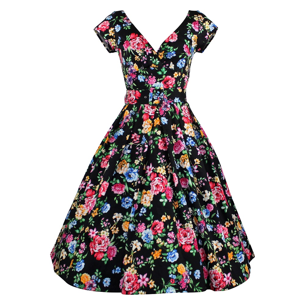 Paris Dress with Cap Sleeves - Gypsy Rose