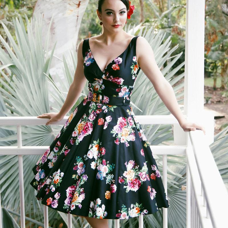 Paris swing vintage dress