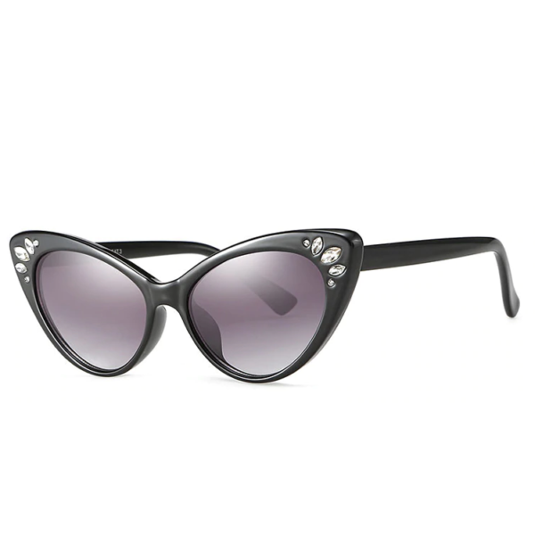 Catseye Sunglasses with diamanté accents in black frames