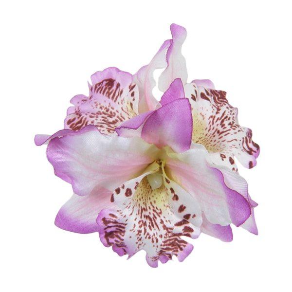 Mauve Triple Orchid Hair Clip