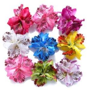 Triple Orchid Hair Clips in 9 Colours