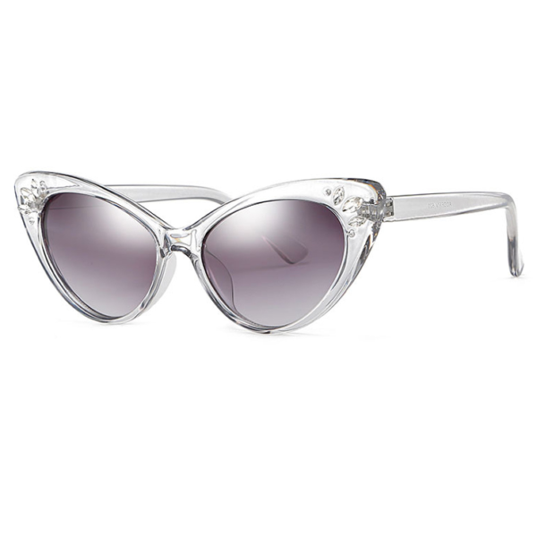 Catseye Sunglasses with diamanté accents in clear frames